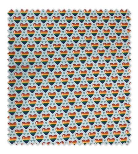 Algodón 100% Colección Corazones Arcoíris