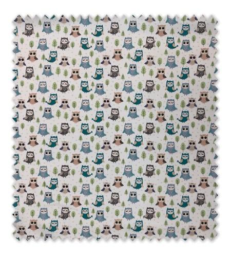 Algodón 100% Colección Búhos de Colores