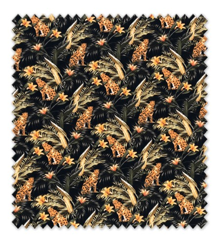 Algodón 100% Colección Flores con Leopardos