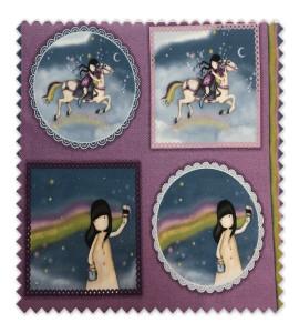Panel Cuento Muñecas Gorjuss Colección Rainbow Dreams