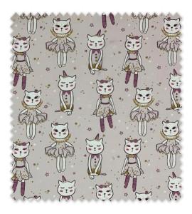 Punto Algodón/ Camiseta Gatos Bailarinas