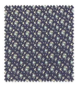 Algodón 100% Flores combinadas tonos Azules