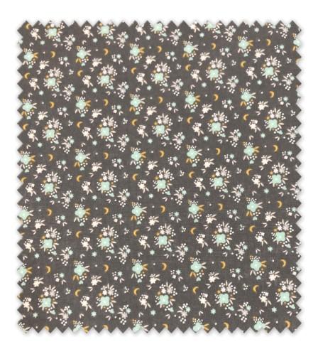 Algodón 100% Flor Verde Menta