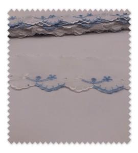 Tira Bordada Azul y Blanca