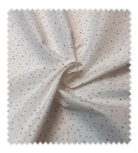 Algodón 100% Mini Estrellas Rosas