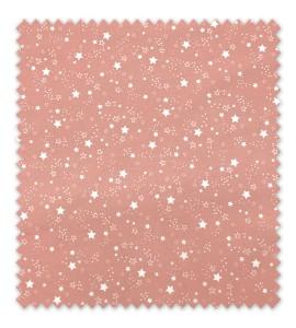 Algodón 100% Estrellas Fondo Rosa Empolvado