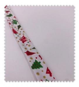Bies Navidad 18mm Abetos Blanco
