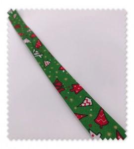 Bies Navidad 18mm Abetos Verde