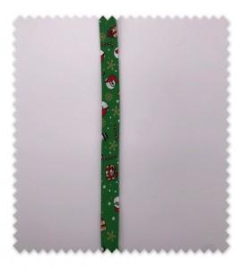 Bies Navidad 18mm Papá Noel Verde