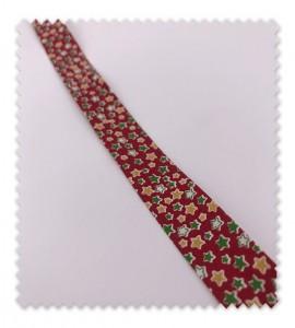 Bies Navidad 18mm Estrellas Rojo