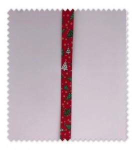 Bies Navidad 18mm Abetos Rojo