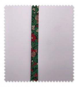 Bies Navidad 18mm Flor Verde