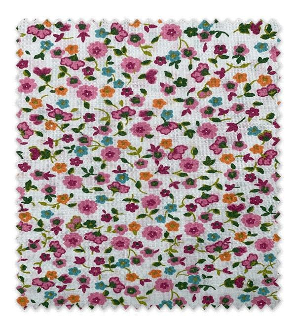 Algodón Estampado Flores Fucsias