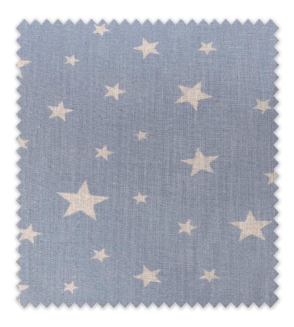 Algodón Estampado Estrella blanca fondo azul