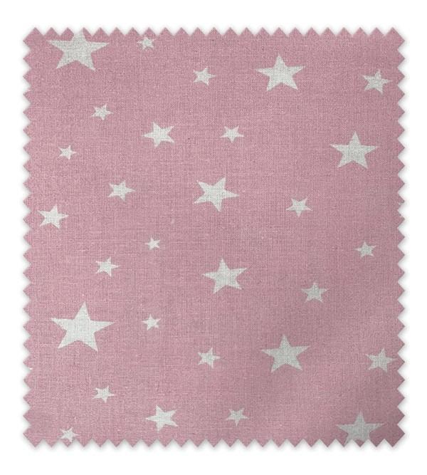 Algodón Estampado Estrella blanca fondo Rosa