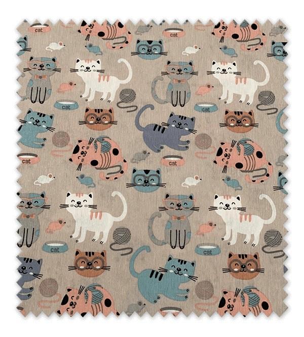 Tela loneta estampada Gatos