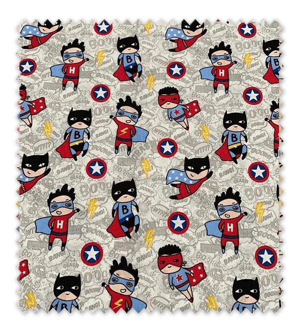 Tela loneta estampada Superhéroes