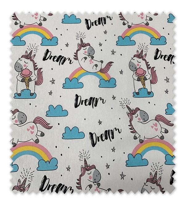 Tela loneta estampada Unicornios Dreams