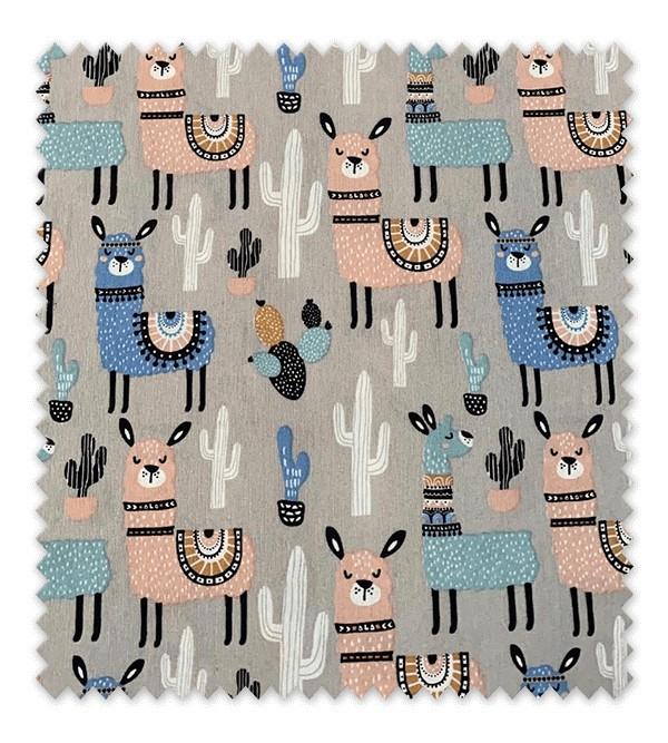 Tela loneta estampada Llamas