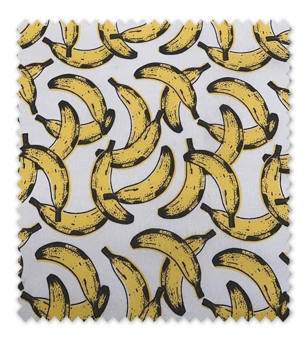 Tela loneta estampada Plátanos