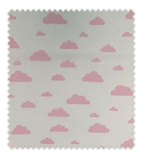 Algodón Estampado Nubes Rosas