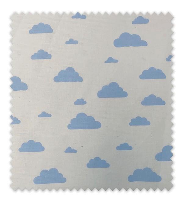 Algodón Estampado Nubes Azules