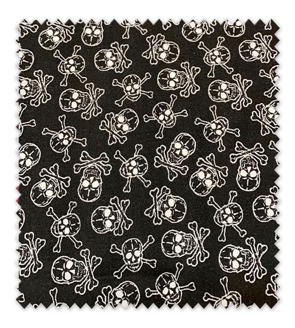 Algodón Estampado Calaveras fondo Negro