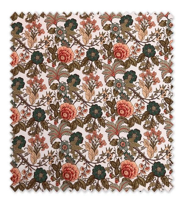 Estampado Flores Marrones