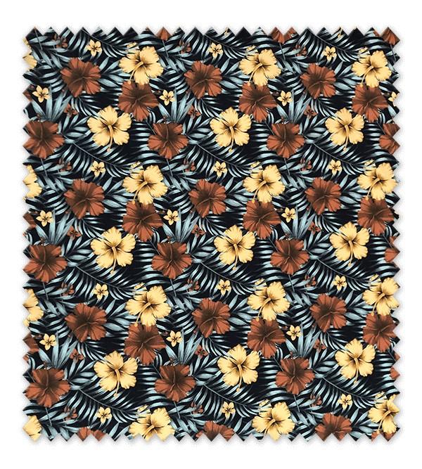 Flor Hawaiana Fondo Negro
