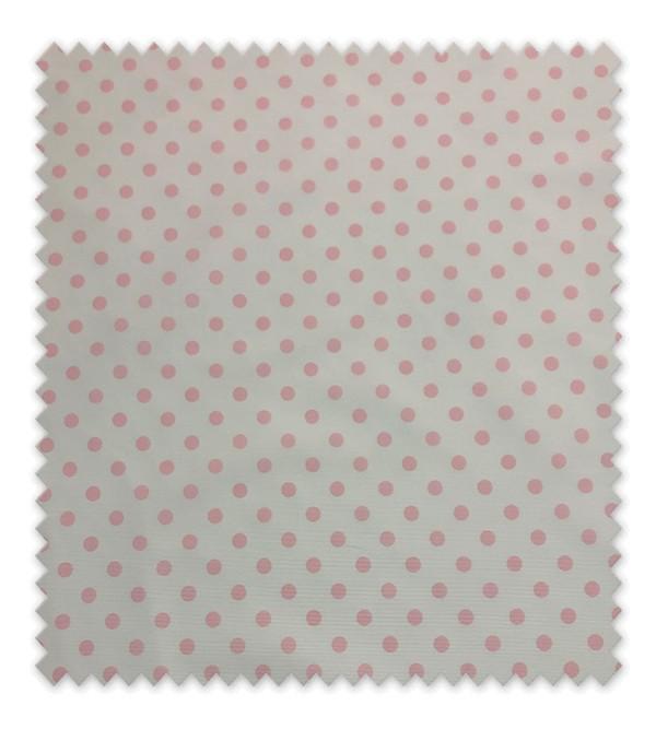 Pique estampado Punto Rosa grande fondo blanco