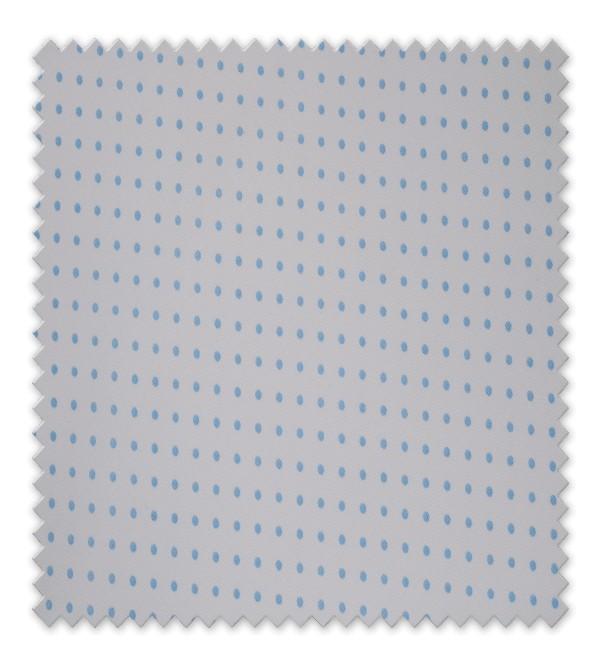 Pique estampado Punto Azul grande fondo blanco
