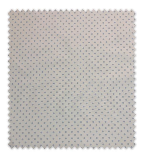 Pique estampado Punto Azul mediano fondo blanco