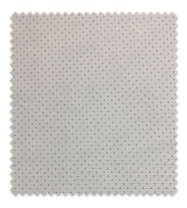 Pique estampado Punto Azul pequeño fondo blanco
