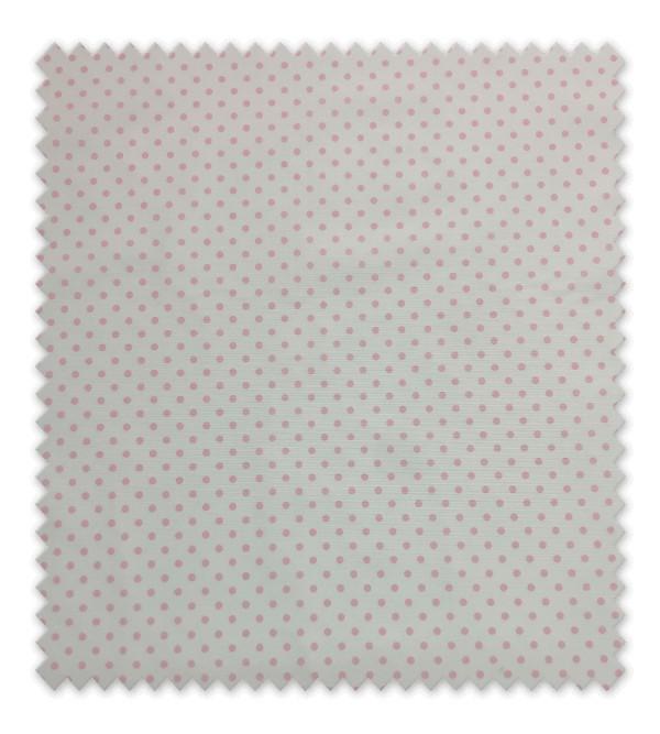 Pique estampado Punto Rosa mediano fondo blanco
