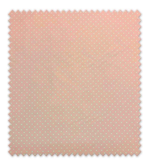 Pique estampado Punto Blanco Fondo Rosa Pequeño