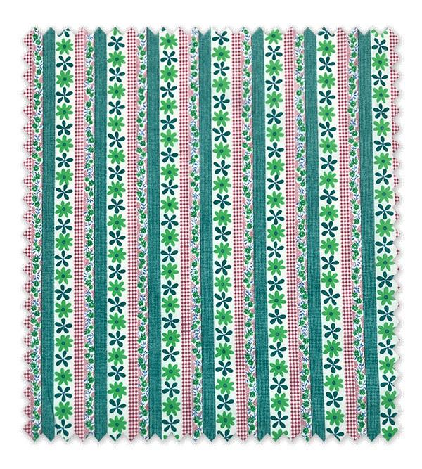 Flores y líneas Rusticas Verde