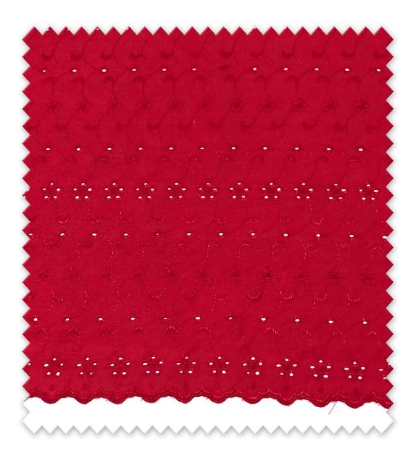 Batista bordada Rojo