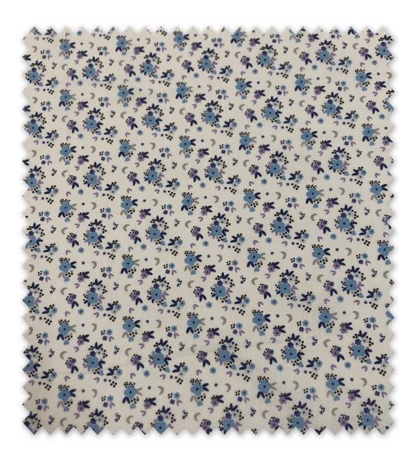 Flores Azules fondo Blanco