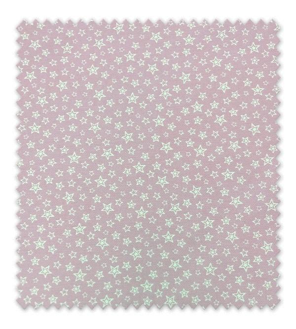 Pique estampado estrellas dobles fondo rosa