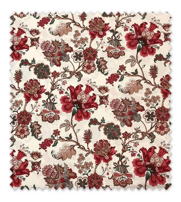 Tela loneta flores ornamentales