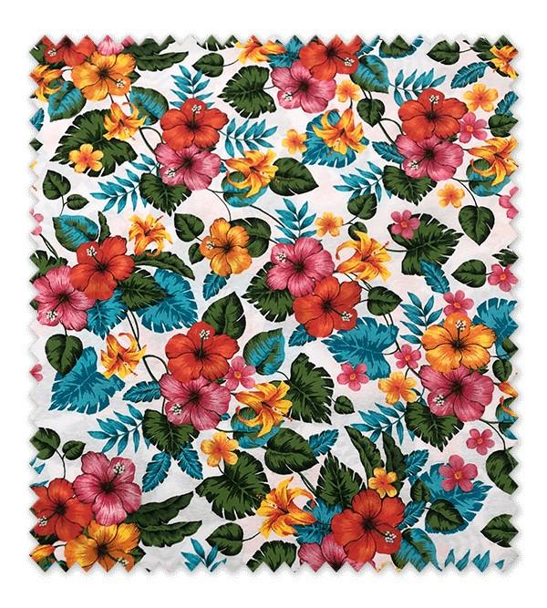 Loneta Estampada Flores Hawái