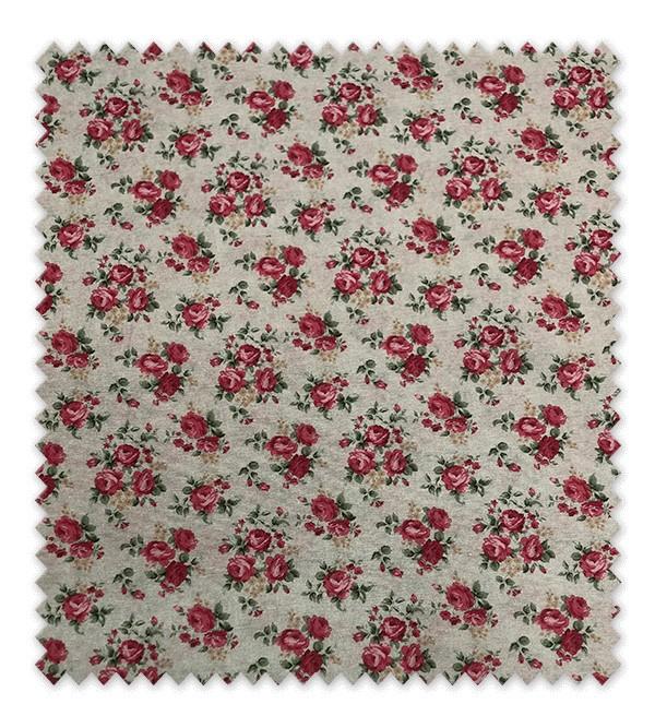 Loneta Estampada Rosa Mini Color Rosa