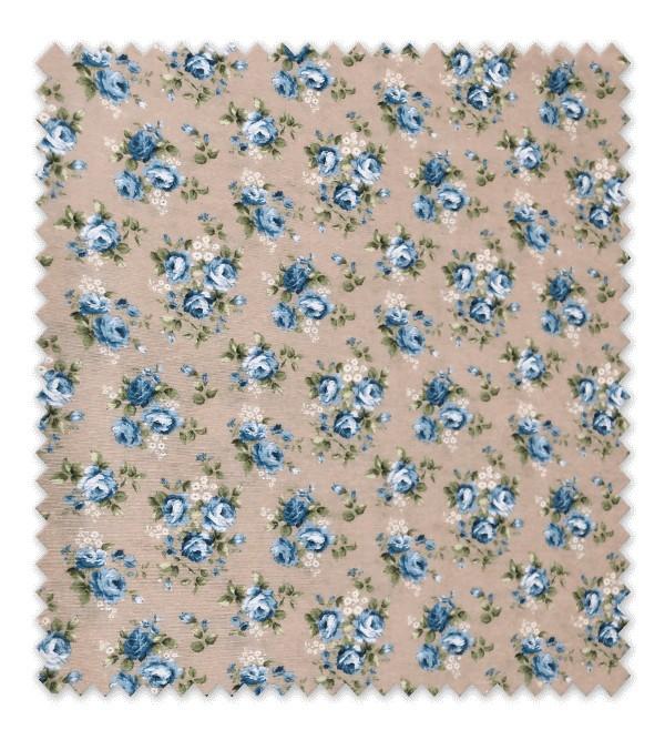 Loneta Estampada Rosa Mini Color Azul