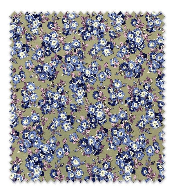 Flores Lilas Fondo Beige
