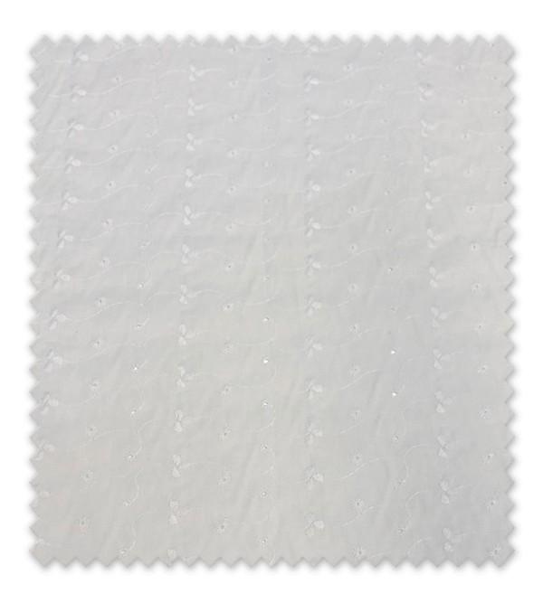 Batista bordada blanca