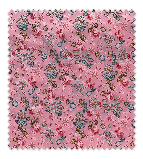 Flor Mandala Fondo Rosa