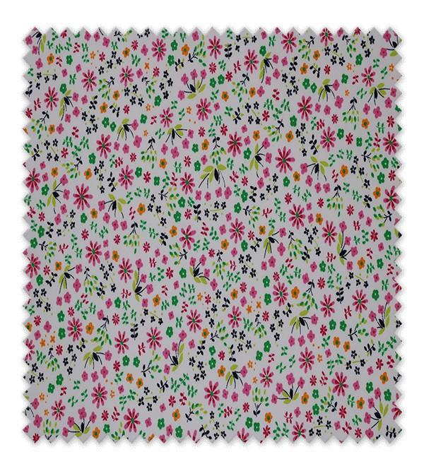 Pique estampado Flores Alegría Fucsia
