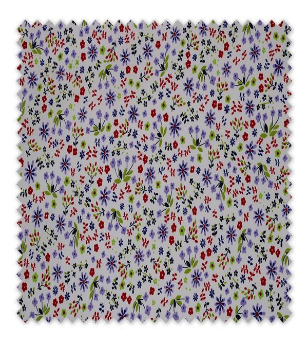 Pique estampado Flores Alegría Morado