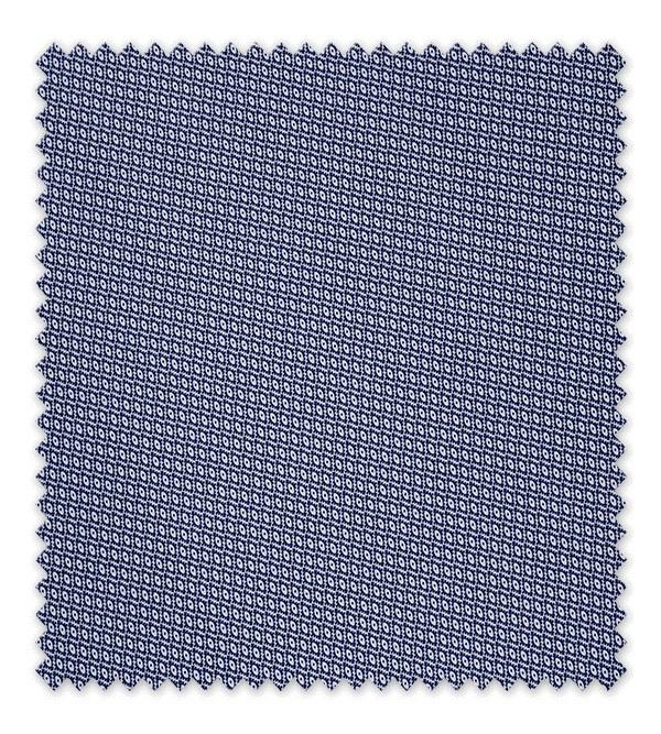 Pique estampado Geometric Azul Marino