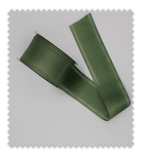 Cinta raso fantasía verde oliva